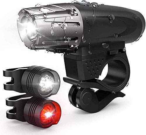 MEEY Bicycle Light Led Set Bicycle Light Led Set USB Bicycle Lict Front Led USB Farrad Lights Rechargeable Waterproof.