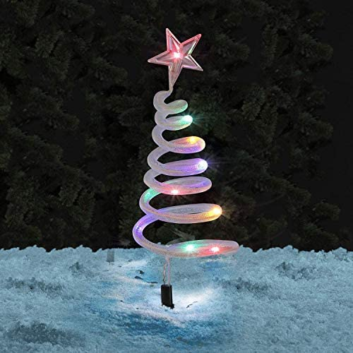 Spiral Christmas Tree Path Stake Lights 40 LED Outdoor Garden Festive Xmas Decoration Multi product image