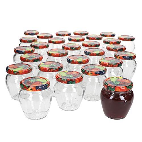 Praknu 12 vasetti per marmellata con coperchio 500 ml