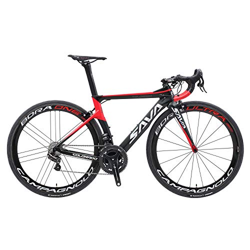Review SAVADECK Phantom9.0 700C Carbon Fiber Road Bike Cycling Bicycle with Campagnolo Record EPS 22...