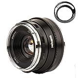 Pergear 25mm F1.8 交換レンズ Fujifilm Xマウントカメラ用 交換用レンズ f1.8-f16 明るい ボケ味 ポートレート 風景に最適 FujiカメラX-A1 X-A10 X-A2 X-A3 A-at X-M1 XM2 X-T1 X-T3 X-T10 X-T2 X-T20 X-T30 X-Pro1 X-Pro2 X-E1 X-E2 E-E2s X-E3に対応 (黑)