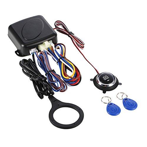 KKmoon Car Alarm System Auto di Spinta del Motore del Pulsante Start Stop d'avviamento a Distanza Sistema di Allarme per Auto (LB-NT9003)