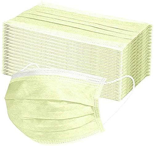 LEEYYO 50 unidades, amarillo, protegido/salud, tela no tejida (amarillo)