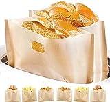 DOCA Sacchetti per tostapane antiaderenti, Facili da Pulire, riutilizzabili e Resistenti al Calore, Senza glutine, Approvati dalla FDA, Approvati dalla FDA, per pasticcini, panini e Toast, 9 Pezzi