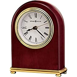 Howard Miller Rosewood Arch Table Clock 613-487 – Brass Features with Quartz, Alarm Movement