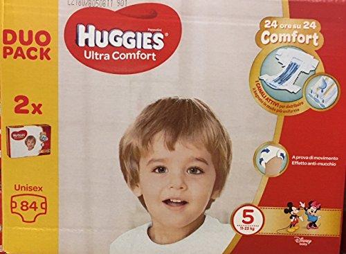 Huggies Huggies Ultra Comfort-Windeln, Größe 5 (11 – 25 kg), Packung mit 84 Windeln – 3090 g