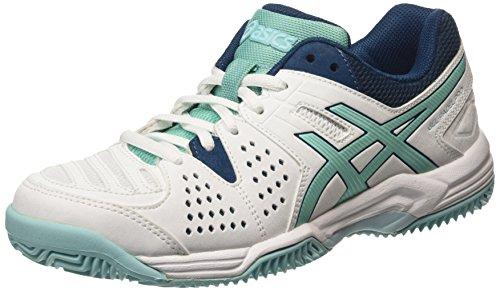 ASICS - Gel-Padel Pro 3 SG, Zapatillas de Tenis Mujer, Blanco (White/Pool Blue/Blue Steel 0139), 37.5 EU