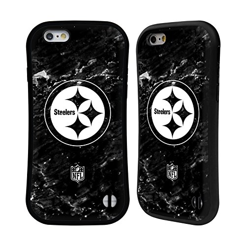 Head Case Designs Oficial NFL Mármol 2017/18 Pittsburgh Steelers Carcasa híbrida Compatible con Apple iPhone 6 / iPhone 6s