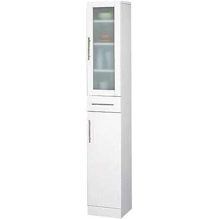 クロシオ カトレア食器棚 30-180 ホワイト 幅30cm すき間収納 キッチン収納
