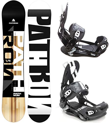 Pathron Snowboard Set: Snowboard TT + Bindung Raven Fastec FT500 (168cm Wide + FT500 Black XL)