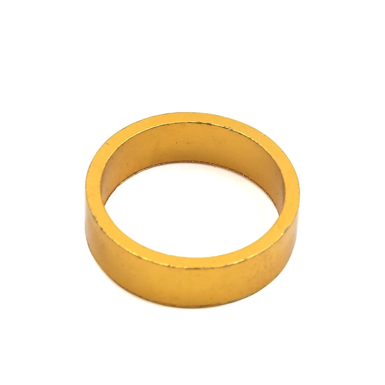 uxcell 自転車ハンドルステム 通用 29mmの直径 ゴールド トーン バイク 自転車 ハンドルバー ステム ヘッドセットスペーサー ワッシャー