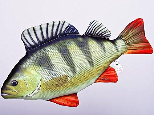 Gaby Kissen Fisch der Barsch 50 cm Kuschelfische Kuscheltie Kopfkissen Plüschtier