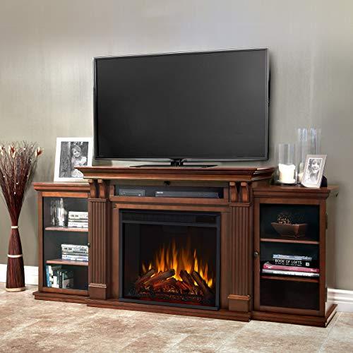 Real Flame Calie Electric Media Fireplace, Large, Dark Walnut