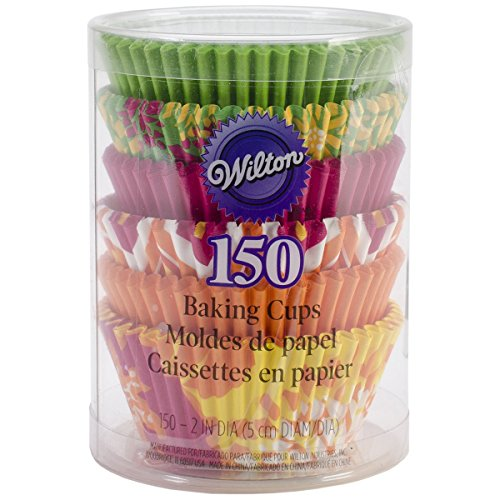 Wilton Floral Baking Cups, Standard, 150-Count, Neon