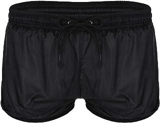 LiiYii Men's See Through Beach Shorts Underwear Drawstring Swim Trunks Waterproof Lounge Pants