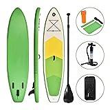 WEIFAN Tabla De Paddle Surf Inflable Sup-Board Tabla De Surf Kayak Surf Set con Mochila Leash Pump para Todos Los Niveles De Habilidad 305X76X15Cm