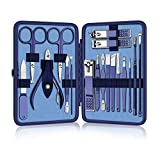 Manicure Set Nail Clippers Pedicure Kit 18pcs Stainless Steel Nail Cutter Care Tools Professional Grooming Kits with Travel Case for Women and Men