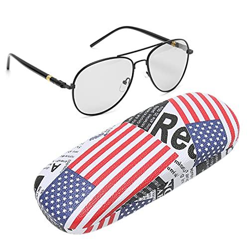 CHICIRIS Gafas masculinas de moda, gafas polarizadas para la familia para el hogar (escamas grises de la decoloración del marco negro, tipo AMOR)
