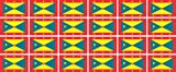 Mini Aufkleber Set - Pack glatt - 33x20mm - Sticker - Fahne - Grenada - Flagge - Banner - Standarte fürs Auto, Büro, zu Hause & die Schule - 24 Stück