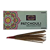 Raajsee varillas de incienso Patchouli 100 gm, 100% puro orgánico natural enrollado a mano libre de químicos, perfecto para iglesia, aromaterapia, relajación, meditación,positividad y terapia sensual
