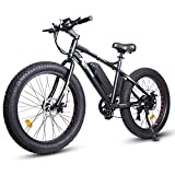 ECOTRIC Electric Bicycle 26' X 4' Fat Tire Bike 500W 36V 13AH Battery Powerful EBike Moped Mountain Beach Snow Ebike Throttle & Pedal Assist - 90% Pre-Assembled (Black)