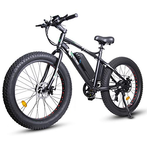 ECOTRIC Electric Bicycle 26' X 4' Fat Tire Bike 500W 36V 13AH Battery Powerful EBike Moped Mountain...