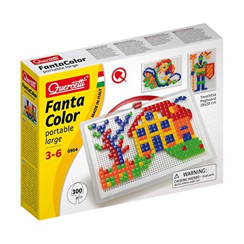 mejores Mosaicos para niños Quercetti - 13/0954 - Juego Fantacolor 300 piezas Quercetti 4 años , color/modelo surtido