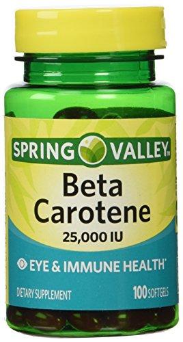 Spring Valley Beta Carotene 25000IU 100ct Softgels