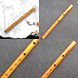 Caliente Chino Tradicional 6 Agujeros Flauta De Bambú Flauta Vertical Clarinete Estudiante Instrumento Musical Color Madera (Color : 1)