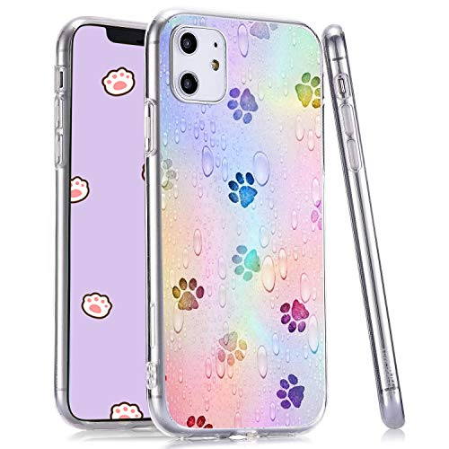 LuGeKe Paws Phone Case for iPhone6 Plus/iPhone6s Plus,Puppy Paws Patterned Case Cover,TPU Cover Flexible Ultra Slim Anti-Stratch Bumper Protective Pup Dogs Phonecase(Puppy Paws)