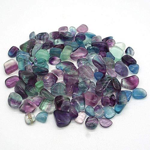 WOHAO Tragbare Schreibblock 50g Natur Fluorit Kristallsteine Mini Rock-Mineral Specimen Heilung Chakra Chip Edelstein Feng Shui-Hauptdekoration (Color : -, Size : -)