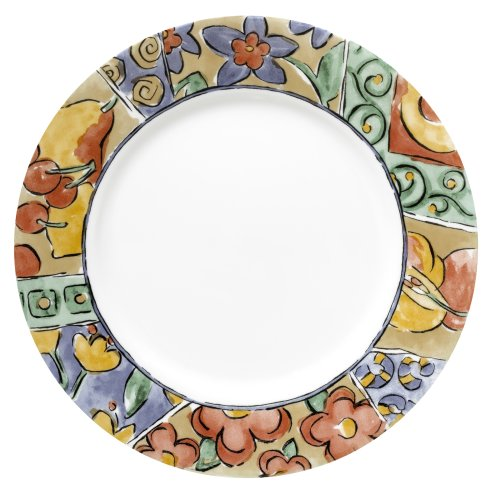 Corelle Livingware 10-3/4-inches Dinner Plate, Watercolors