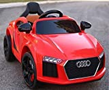 """Gomani """"Audi Red Kids Toy Car with Rechargeable Battery Operated Ride On"""