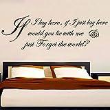 If I Lay Here Snow Patrol Lyric Cita Etiqueta de la pared Dormitorio Sala de estar Canción Letra Letras Decoración de la pared Comedor Vinilo Decoración 82x27 cm
