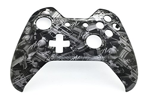 E-MODS GAMING Custom Hydro Dipped Font Shell for Xbox One Controller - Gun Design