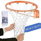 Spring Meow Basketball Net, Outdoor Heavy Duty Basketball Net Replacement for Basketball Hoop, Fits Standard Indoor or Outdoor 12 Loops Rim