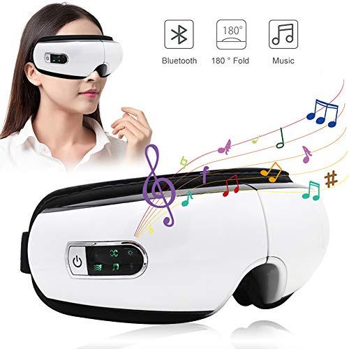 Preisvergleich Produktbild DIDIOI AugeMassager,  Augenpflege Maske mit Wärme Faltbare Bluetooth Musik-Vibration-Luftdruck-elektrisches bewegliches Auge Massage-Schönheits-Werkzeuge