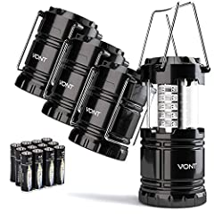 Bright and lasting––– Equipped with 30 crazy bright LEDs, this compact lantern cuts through 360 degrees of darkness on the stormiest, dimmest nights. Easily lights up the entire tent or room. Compact & lightweight––– Collapsible design that reduces o...