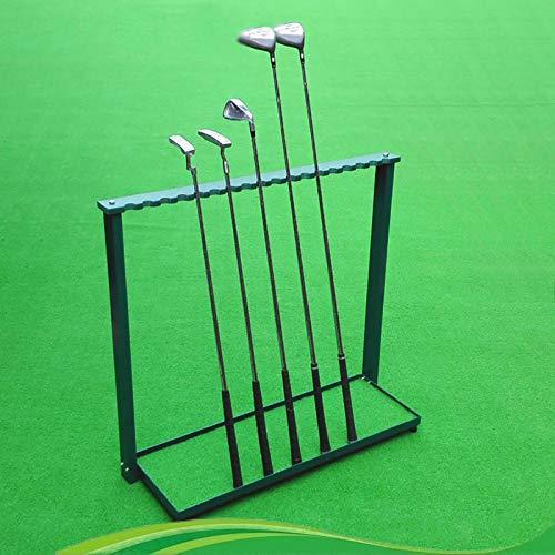 Organizadores de Palos de Golf Club Estante de Metal para Organizadores de Palos de Golf Con 18 Agujeros, Soporte para Palos de Golf de Suelo para Interiores y Exteriores, para Garaje y Campo de Práct