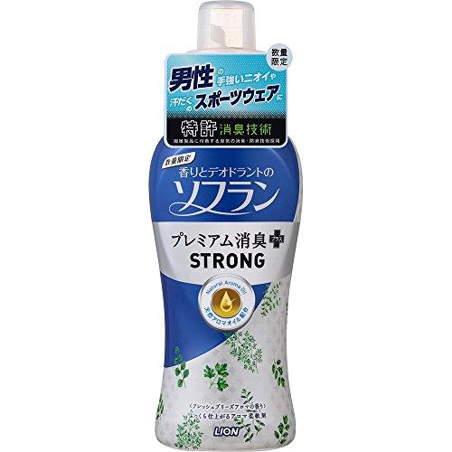 香りとデオドラントのソフラン 柔軟剤 プレミアム消臭プラスSTRONG フレッシュブリーズアロマの香り 本体 5...