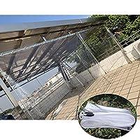 防水タープ、透明工業用タープ、グロメット付き耐引裂タープ、365g /m²、折りたたみ式タープ、防風ボートタープ、101サイズ,1x1.8m/3.3x5.9ft
