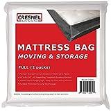 CRESNEL Mattress Bag for Moving & Long-Term Storage - Full Size - Enhanced...