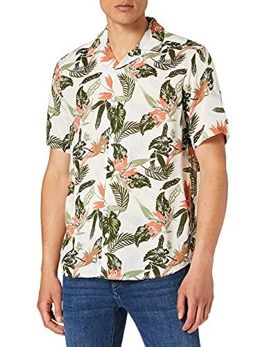 Only & Sons Onsklopp Life SS AOP Viscose Shirt Noos Camisa, Color Blanco, M para Hombre