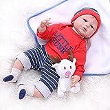 ASDAD Bebes Reborn Doll 55Cm Baby Girl Boy Dolls LOL Silicona Suave Boneca Reborn Brinquedos Regalos para El Día De Los Niños Juguetes Bebe Plamate,Brown Eyes
