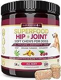 Natural Genius Hemp Hip & Joint Supplement for Dogs, 180 Soft Chews Treats - Glucosamine, Chondroitin, MSM, Turmeric, Hemp & Konaberry - Arthritis Support & Pain Relief for Senior Dogs - All Breeds