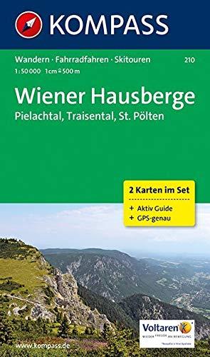 KOMPASS Wanderkarte Wiener Hausberge - Pielachtal - Traisental - St. Pölten: Wanderkarten-Set mit Aktiv Guide, Radwegen und Skitouren. GPS-genau. 1:50000 (KOMPASS-Wanderkarten, Band 210)