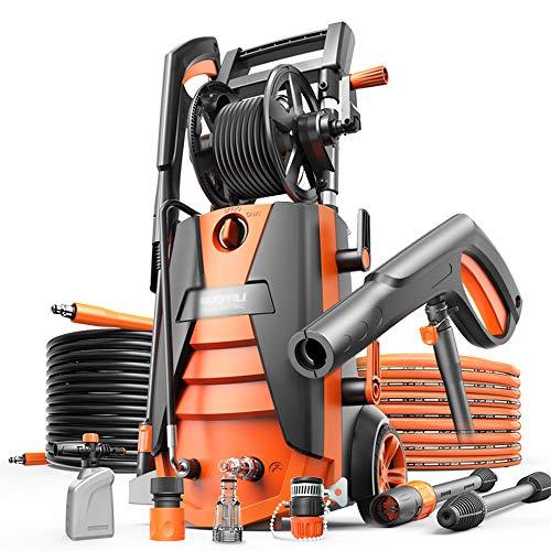 KOUPA Hochdruckreiniger, 1800 W, 150 bar, Hochleistungsleistung, elektrischer Druckreiniger, 360 ° leicht zu entfernender Schmutz, für Fahrzeug, Haus, Garten, Grill