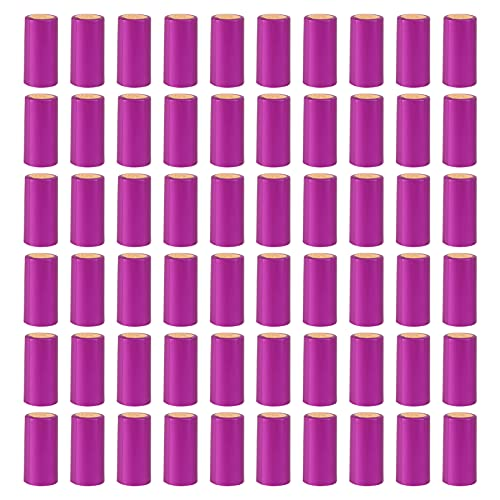 Lurrose 100 Unidades de Cápsulas Termorretráctiles Tapas de Sellado para Vino Tapas para Botellas de Vino Tapas Termorretráctiles para Vino Envoltorio Retráctil para Vino Y Uso Doméstico
