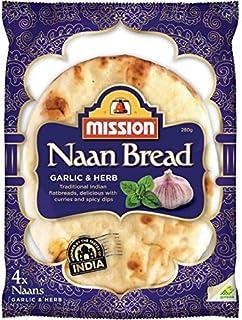 6X Mission Naan Bread Garlic & Hreb 4Pk 280G
