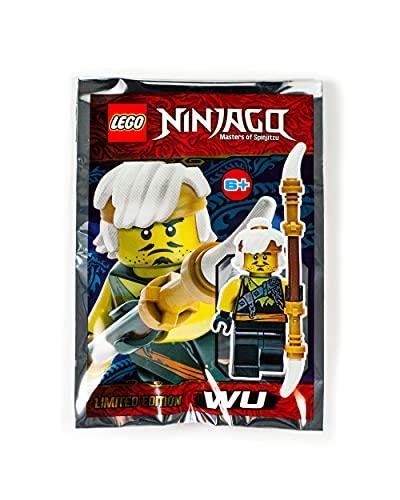 LEGO Ninjago: Adolescente Wu (Sensei Wu en Disfraz de Cazador de dragn) con Bastn de Batalla